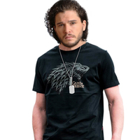 Game Of Thrones John Snow T Shirt A Song Of Ice And Fire Stark Sword Wolf