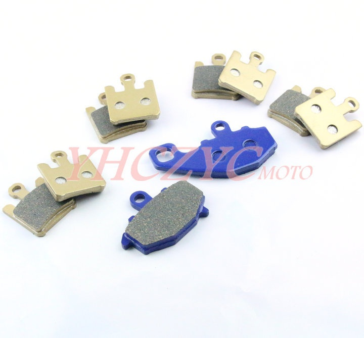 For KAWASAKI ZX10R 2004-2007 motorcycle front and rear brake pads set motorcycle front rear brake pads for kawasaki gpx 600 r zx600 1988 1996 gpx 750 r zx750 1987 1989 zr750 1991 1995 zx100 zx10 p04