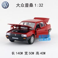 Gift For Baby 1pc 1 32 14cm Delicacy Volkswagen Poussan Santana Classic Car Acousto Optic Alloy