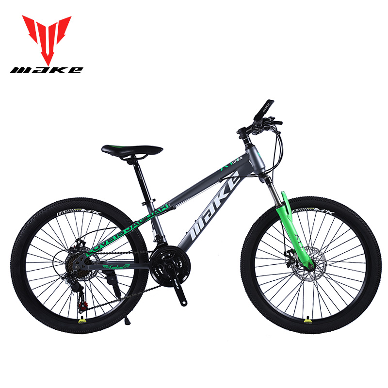 Mountain Bike MAKE 24' 21 Speed Disc Brakes Steel Frame image