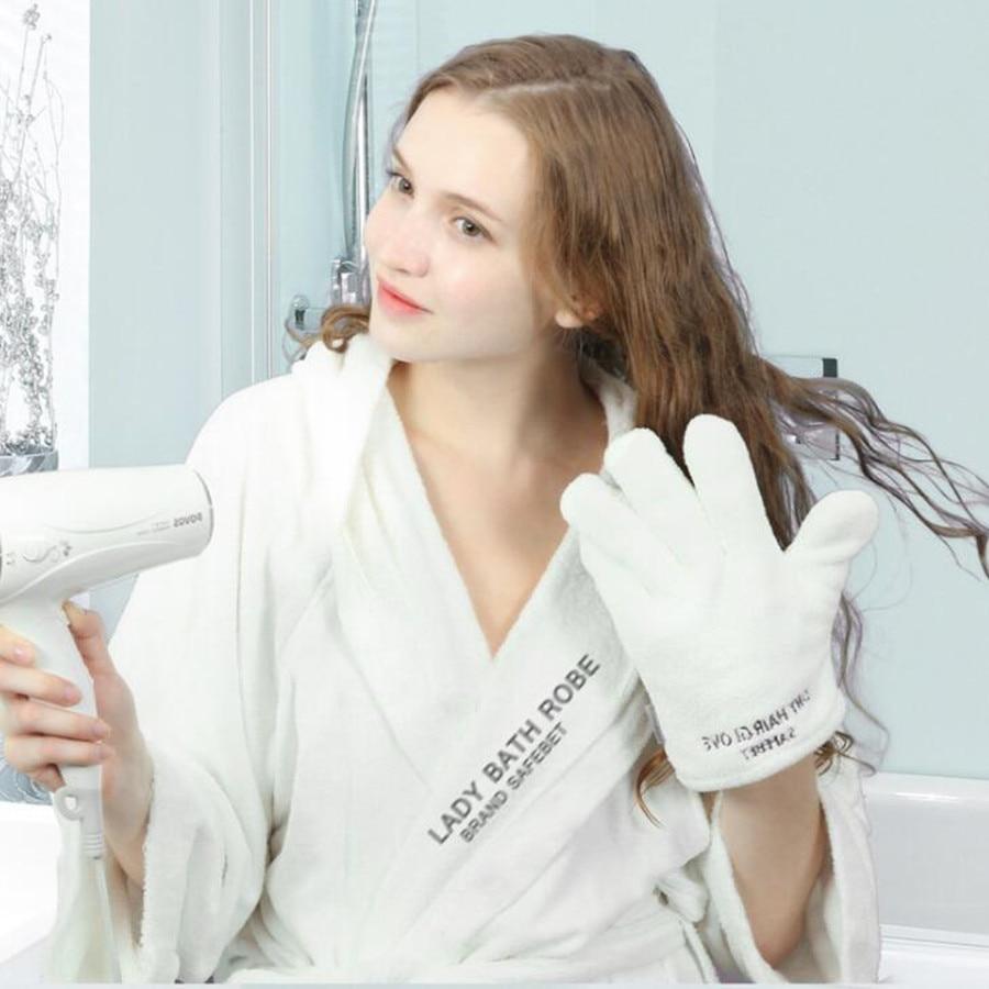 Hohe Qualität Schnelle Haar Trocknen Pflege Stil Styling Handschuh Handtuch Für Haar Verkleiden Und Spa Bad Dusche Kostenloser Versand Produkte Werden Ohne EinschräNkungen Verkauft Bad