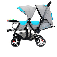 Authentic twin baby stroller before and after the stroller lightweight folding double stroller can lie