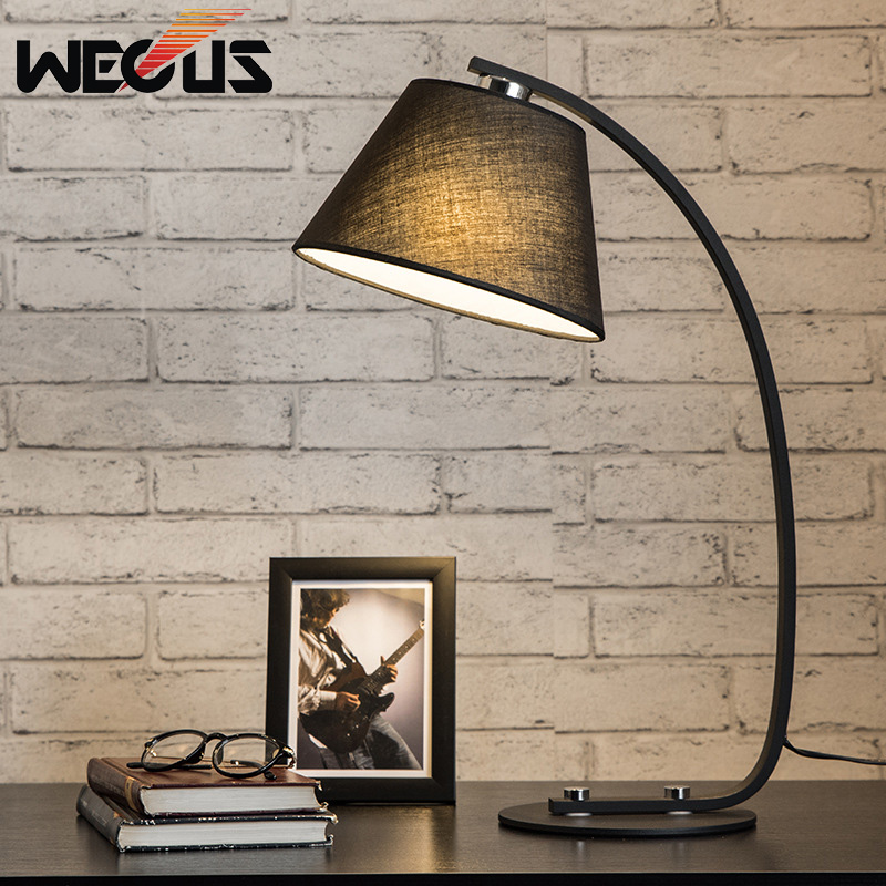 Europe Eyeshield Cloth Shade Table lamp Clear Bedside Light for Bedroom Living Room Hotel Decoration Lamp