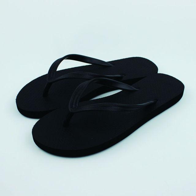 0ffa9d79ed0f0 DS-7 Women Black Rubber Foam Flip Flops Lady Pool Beach Slippers Girl Flat  Sandal Shoes Size 36-39 6-9