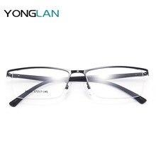 Yong Lan TR90 Design Optical Glasses Semi-Rimless Frame Myopia Optics Eyewear Clear Lens Gafas Goggles