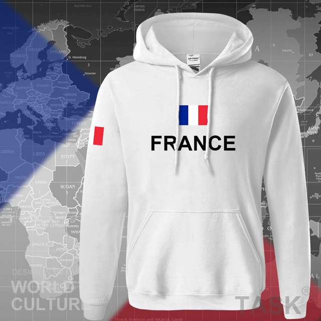 France hoodies men sweatshirt sweat new hip hop streetwear clothing jerseys FRA loose tracksuit nation French flag fleece FR 4