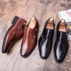 Image 5 - ZIMNIE Brand Men Classic Buckle Thick Bottom Dress Shoes Men Handmade Luxury Formal Business Office Shoes Genuine Leather Shoes