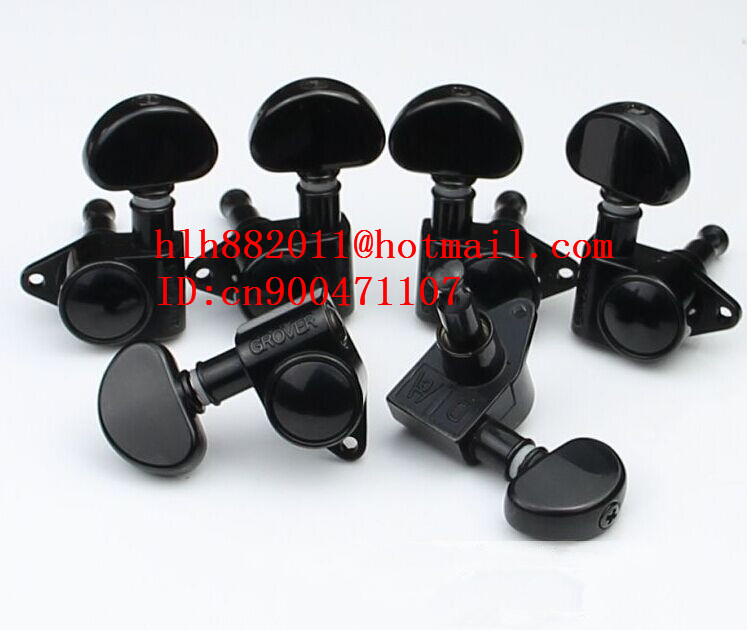 free shipping new electric guitar tuning peg 3L+3R guitar button in black GR-9 цена и фото
