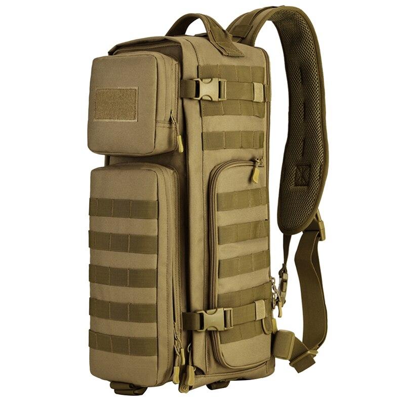 Men Chest Sling Back pack Mens Bags One Single Shoulder Man Large Travel Military Back packs Molle Bags Outdoors Rucksack 2018