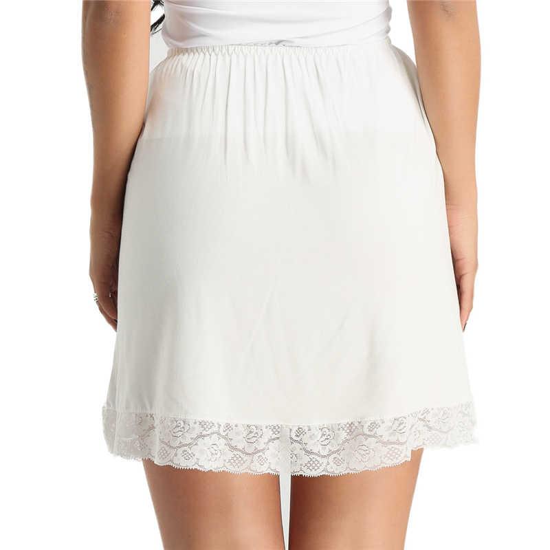 4855d12fb79ef Women Waist Slip Lady Black White Short Underskirt Soft And Comfortable  Cotton Length 45cm Petticoat Half Slips New