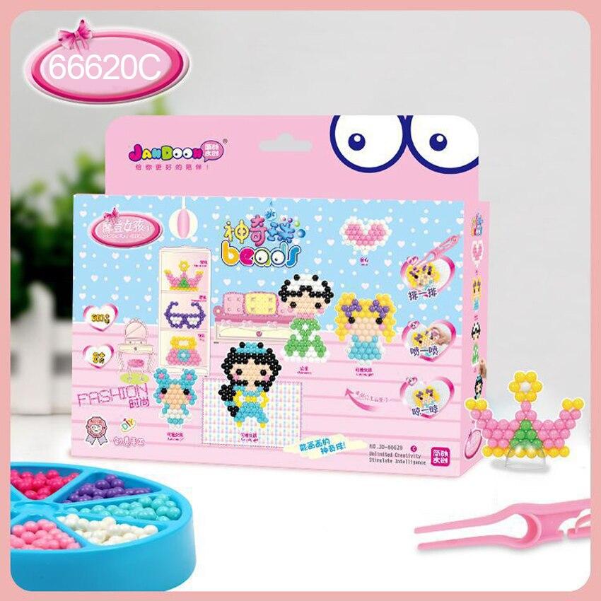 DOLLRYGA Hama Bead Perler Beads Puzzle Education Aqua Toy Fuse Bead Jigsaw Puzzle 3D For Children Abalorios Juguetes Lote 66620C
