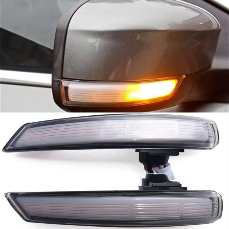 2pcs LED Side Wing Rearview Mirror Indicator Blinker Repeater Dynamic Turn Signal Light for Ford Focus 2 3  Mondeo