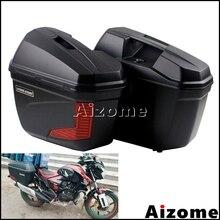 Универсальный мотоцикл черный 23 литра сбоку Паньер Для Honda Yamaha Suzuki BMW по индивидуальному заказу ремень для багажа Чехол Хвост коробка сумки