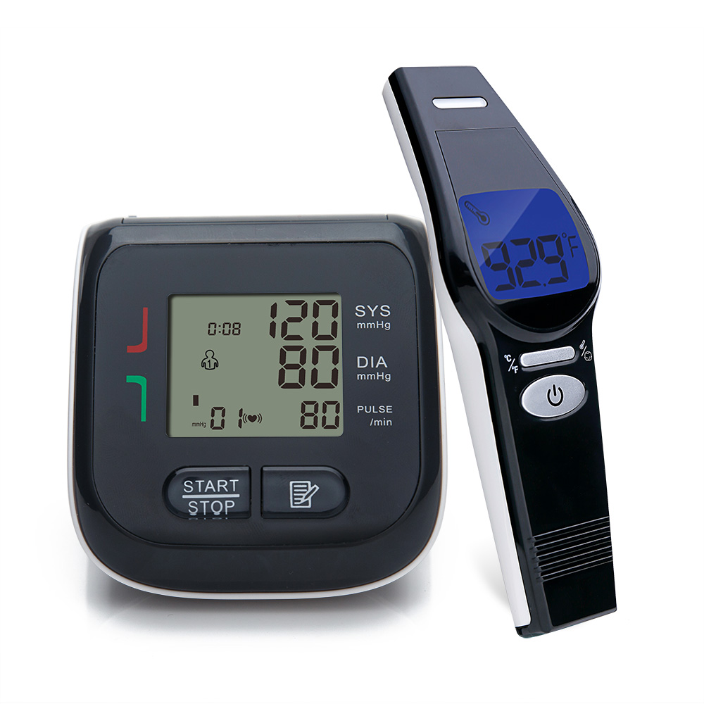 Yongrow Health Care Combination Wrist Blood Pressure Monitor & Body Infrared Thermometer