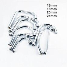 Роскошный высококачественный металлический материал хромированная отделка J Форма кухонного крана носик