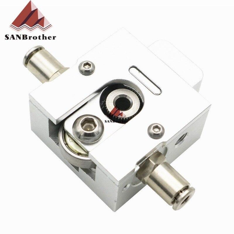 3D de bricolaje impresora Reprap Bulldog metal extrusora para 1,75mm Compatible J-La MK8 extrusora remoto se encuentra para 3D piezas de la impresora