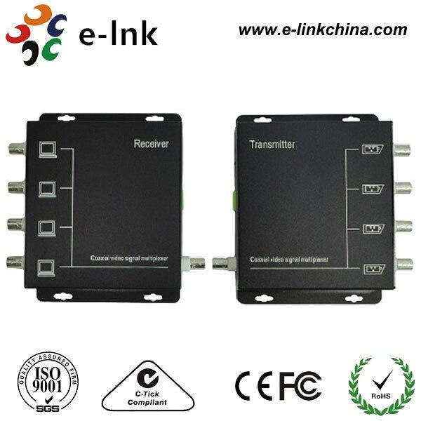 Multiplexor de vídeo analógico de 4 canales/transmisor de vídeo Coaxial/multiplexor CCTV por coaxial