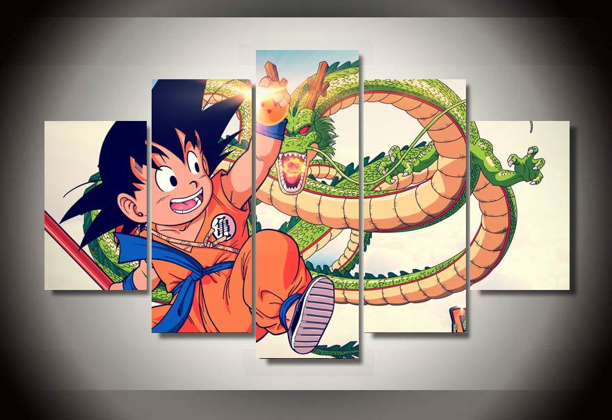 childrens room decor unframed cartoon dragon ball group printed painting wall art print film poster canvas