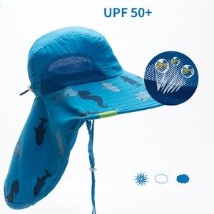 Image 4 - Kocotree bebek erkek kız güneş koruma yüzmek şapka çocuk güneş koruyucu şapka açık havada kap Unisex eğlence yaz kap çocuklar için