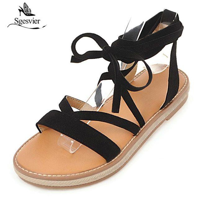 Toe 3 Peep Femme Plates Décontractées Chaussures Été Mode Sandales Doux 43 Femmes Sgesvier Taille 33 Liée Ox412 Couleur Croix LzjpUMVqSG