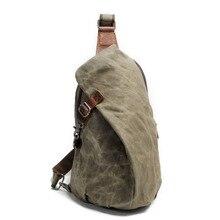 Anti hırsızlık tuval aşınmaya dayanıklı erkek göğüs çantası rahat seyahat Sling çapraz postacı çantası su geçirmez erkek omuz askısı paket çantası
