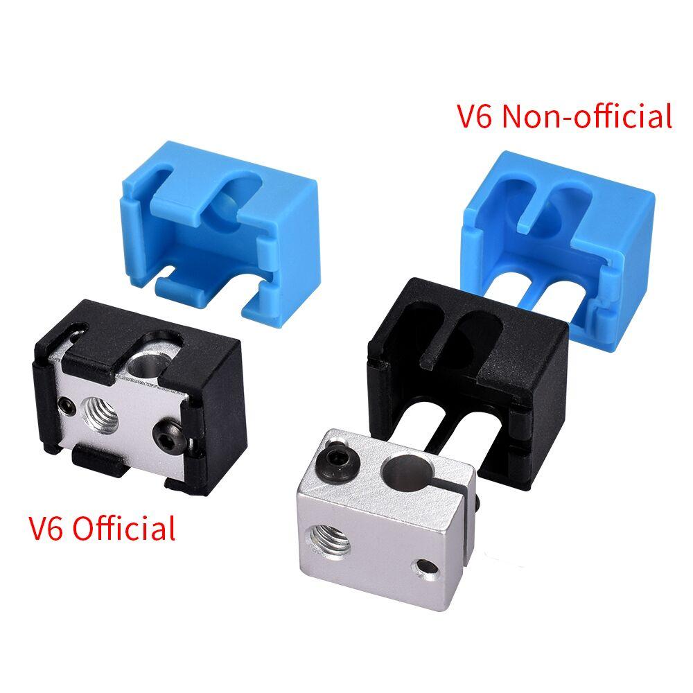 1/3/5PCS V6 Silicone Socks Support V6 Heated Block 3D Printer Parts Original J-head Hotend Bowden Extruder Reprap Heater Block