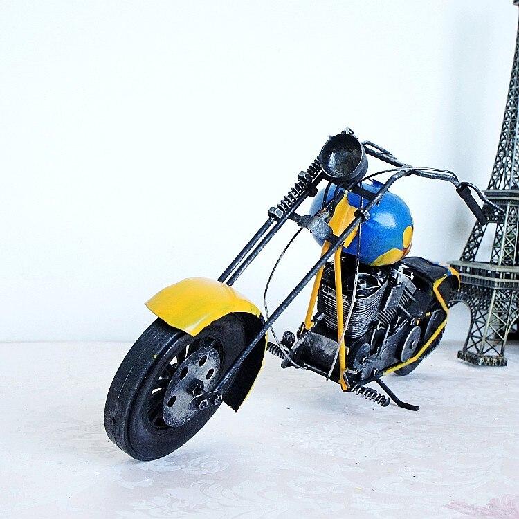 Лидер продаж; Модные Винтажные мотоботы модель pub/украшения дома свадебный подарок кованого железа Craft Metal Craft