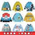 Child sweater baby sweater male child newborn knitted cardigan set autumn
