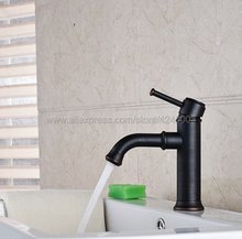 Oil Rubbed Bronze Basin Vanity Sink Faucet Single Handle Bathroom Mixer Deck Mounted  Knf286 все цены