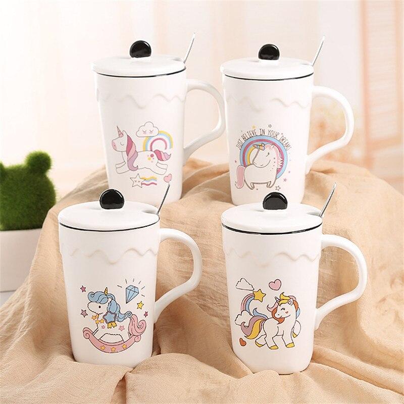 Fashion Creative Unicorn Mug Ceramic Coffee Mug Breakfast Milk ,Tea Cup Drinkware Heat -Resistant Cup for Best Gift
