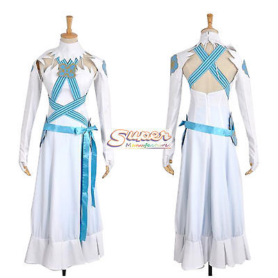 DJ DESIGN Fire Emblem: Rekka no Ken Fates Azura Aqua White Uniform Cloth Cosplay Costume