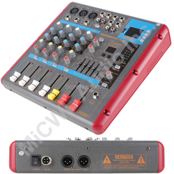 Level up 5 Way Wireless Bluetooth Microphone Mixer Mixing Console Sound Voice Processor SMR-501USB