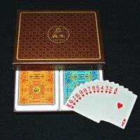 2Pcs Plastic PVC Waterproof Card Poker Playing Cards Gift Set