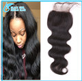 5 Pcs/Lot Wholesale Price Virgin Brazilian Lace Closure Bleached Knots 3/Middle/Free Part 7A 4*4 Body Wave Human Hair Closure