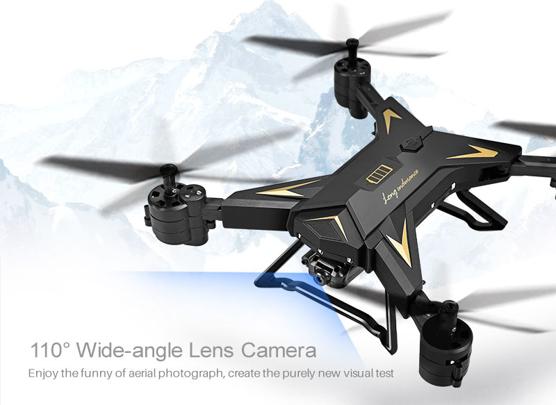 New RC Helicopter KY601S Drone with Camera HD 1080P WIFI FPV RC Drone Professional Foldable Quadcopter  Minutes Battery Life 10