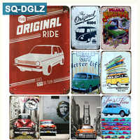 [SQ-DGLZ] ORIGINAL RIDE cartel de Metal vintage placas de Metal café Pub Club hogar Decoración de pared estaño signos placa Retro