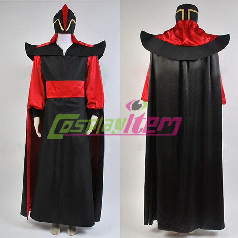 Custom Made Adult Menu0027s Aladdin Jafar Villain Costume Outfit Aladdin Cosplay Costume For Halloween-in Menu0027s Costumes from Novelty u0026 Special Use on ... : adult jafar costume  - Germanpascual.Com
