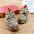 2016 Otoño Invierno Niños Zapatos Niños Botas de Moda de Camuflaje Niños Faux Leather Martin Botas Niños Cómodos Zapatos Casuales