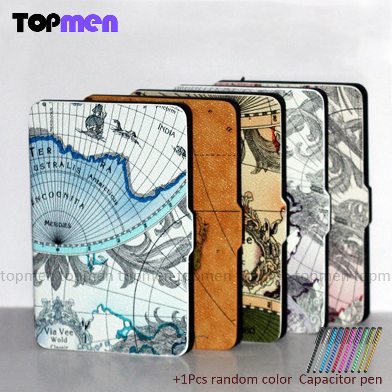 New Cover For Amazon Kindle Paperwhite Slim PU Flip Leather Case Cover Wake/Sleep Function With Pen High Quality high quality cross pattern ultra slim folio leather case flip wake up sleep smart cover for amazon kindle paperwhite 1 2 3 6