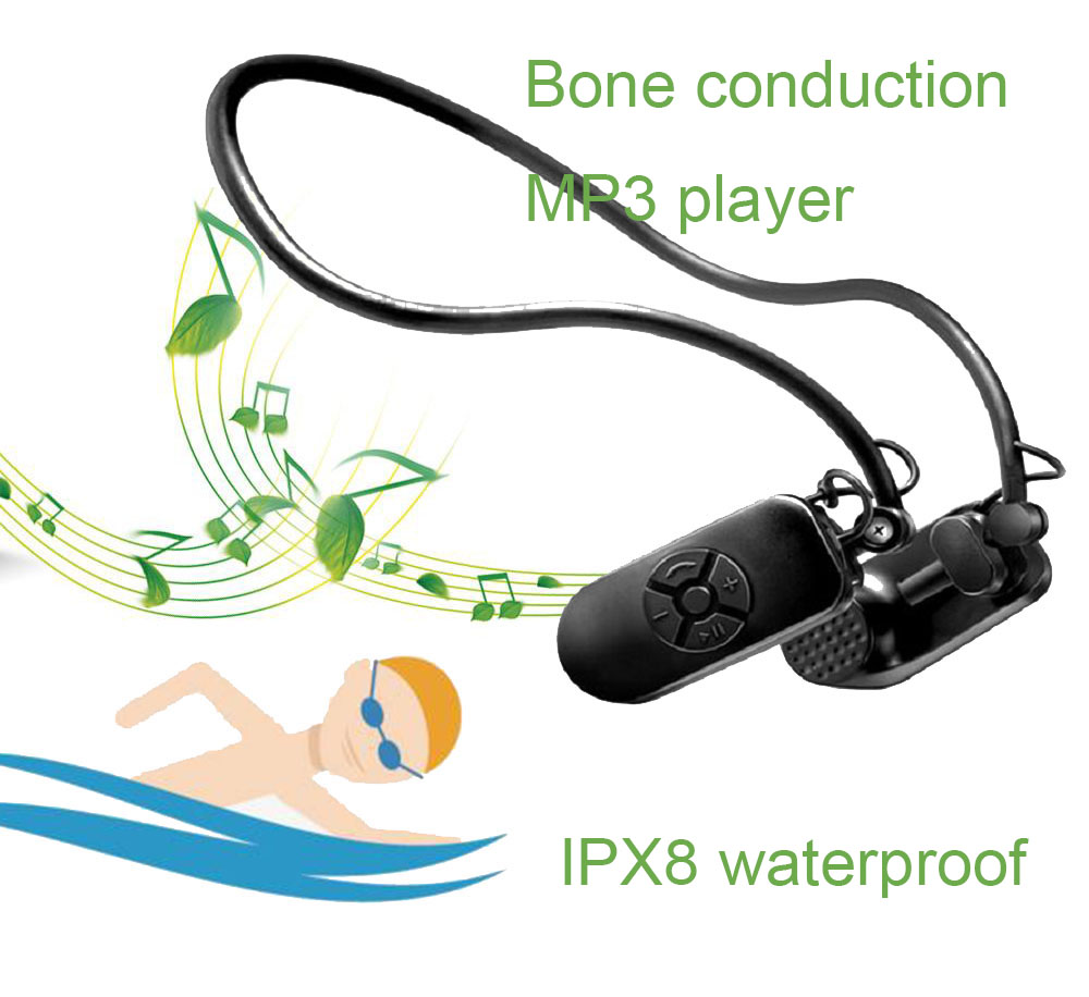 006 HiFi Lossless Music Player Waterproof Earphones Bone Conduction Protect Eardrum 8GB/16G MP3 Player(China)