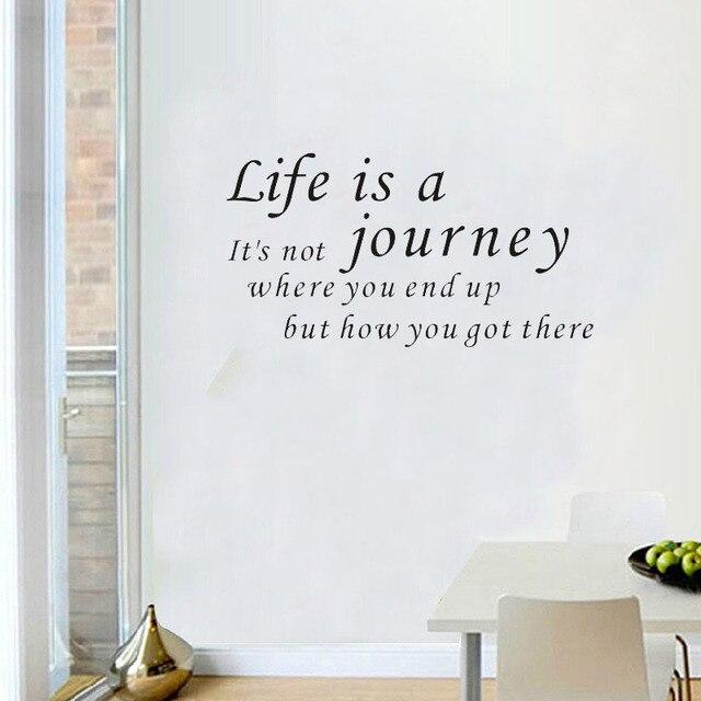 Diy leben ist eine reise quote wandaufkleber wohnzimmer vinyl ...
