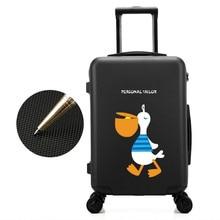 Maleta de equipaje de viaje de equipaje de viaje femenino Maleta de equipaje de viaje de carro de avión de negocios mujeres