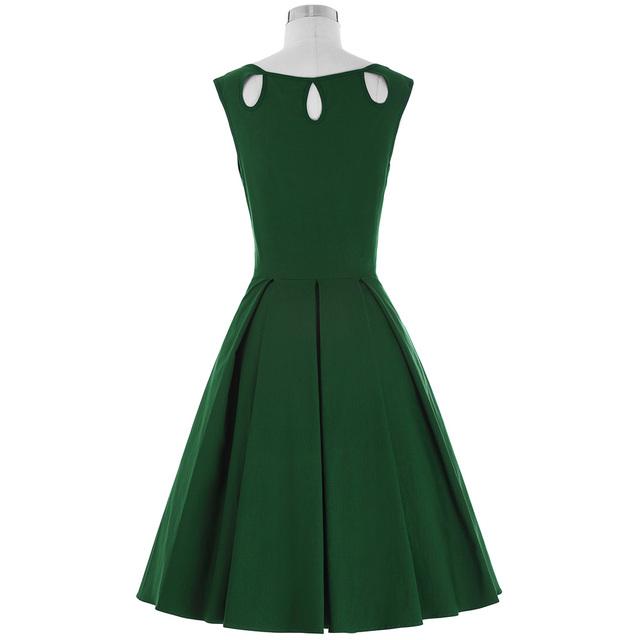 Plus Size Women Robe Vintage Dress Summer Sleeveless Clothing Short Casual 50s 60s Rockabilly Swing Party Dress Tunic Vestidos