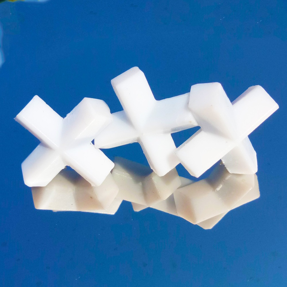 E8x20mm PTFE Magnetic Stirrer Mixer Stir Bars PTFE Cross Shape Stirring Bars White  Spin Bars,3pcs