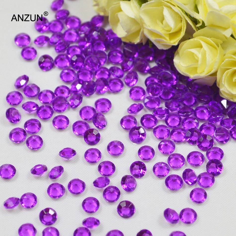1000 шт 6 мм Свадебная вечеринка алмазные Конфетти Свадебные для декорации стола - Цвет: Purple