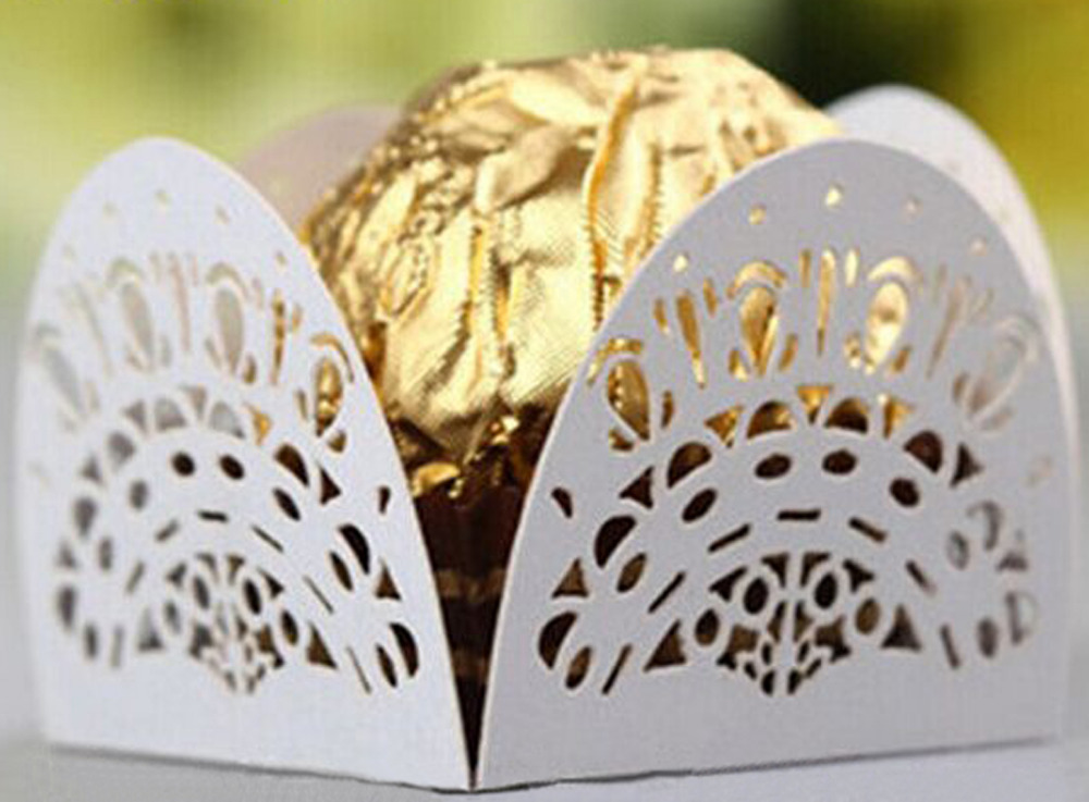 Laser Cut <font><b>Cat</b></font> Face <font><b>Cup</b></font> <font><b>Cake</b></font> Wrappers Liners Wedding Favor Party Supplies image
