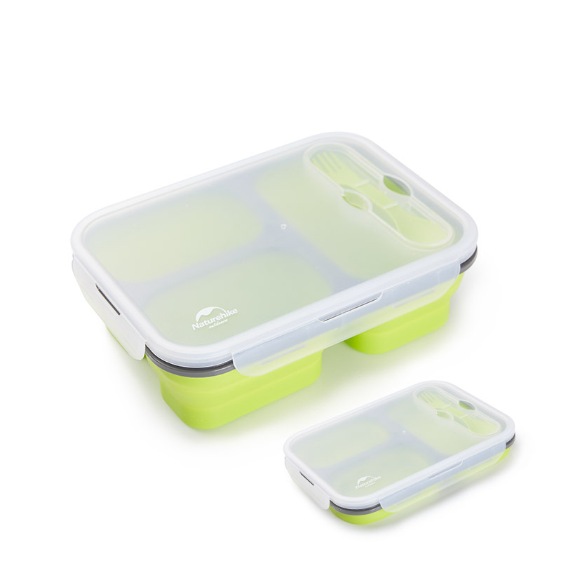 1PC 1000ml Silicone Collapsible Portable Lunch Box Microwave Folding Bento Bowl Travel Outdoor Food Storage Container