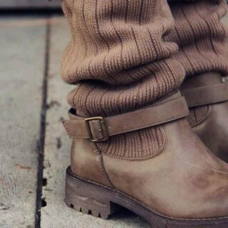 Taille Non Martin Mode Femmes De Ceinture Moto Plat Tube Slip Bottes Femme 03 01 Boucle Dans 2018 Le À La Chaussures 02 Grande IT84w