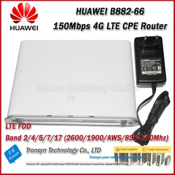 100Mbps HUAWEI B882 4G LTE CPE Wireless Router Support LTE FDD 700MHz/850/ AWS/1900/2600MHz