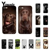 Yinuoda Black cute labrador dog Black Soft Shell Phone Cover for iPhone X XS MAX 6 6S 7 7plus 8 8Plus 5 5S XR 11 11pro 11promax(China)